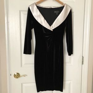 Connected Apparel Velvet dress